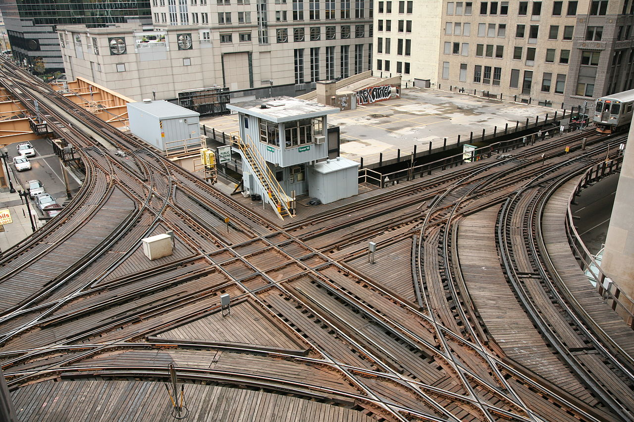 Rail network and buildings