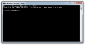 WIndows 7 Command Line