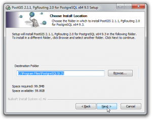 Postgresql - PostGIS - Install Directory