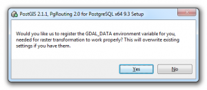 Postgresql - PostGIS - GDAL_Data Environment Variable