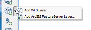 Add WFS or ArcGIS FeatureService Layer to map