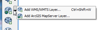 Add WMS/WMTS or ArcGIS MapServer Layer