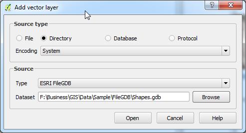 Open File Geodatabase